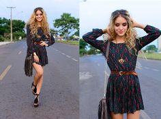 Manuela Gomes - Forever 21 Ethnic Dress, Steven Madden Fringe Bag - She get it poppin', droppin'