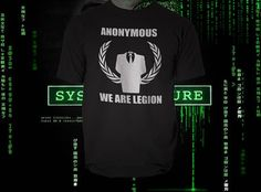 Anonymous...    Price : 15.00 EURO ( S&H if applicable)  ... HashTags : #brutalvisual #brutalvisualstudio #handmade #custom #etsy #customdesigns #brutal #anonymous #tshirt #tee #shirt #hacking #hack #tribute #guyfawkes #gunpowdertreason #anonymoustshirt #hackers #clothing #wearelegion  This is a quality T-Shirt as is on the product's image made in default 100% black cotton color (or white) and the letters/customization is done in the color of your choosing. ... (click on the link to read…