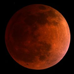 The moon turned blood red on April 15, 2014 during a total lunar eclipse visible from most of North America, South America, Hawaii and parts of Alaska. See amazing photos of the total lunar eclipse here. This View: The moon turns blood red in this 3:30 a.m. ET view of the total lunar eclipse on April 15, 2014 as seen by a telescope at the University of Arizona's Mt. Lemmon SkyCenter at Steward Observatory atop Mt. Lemmon, Arizona. [The Total Lunar Eclipse of April 15: Complete Coverage]