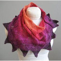 Freia Handpaint Yarns Radiance Shawlette Pattern