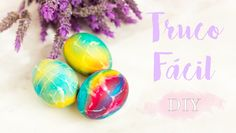 No dejaras de pintar huevos en Pascua despues de ver este video tutorial. YouTube: Linna.pla  #pascua #diy #easter #manualidades