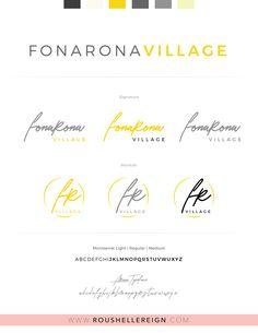 FonaRona Village Branding by Roushelle Reign Brand Identity, Branding, Reign, Brand Management