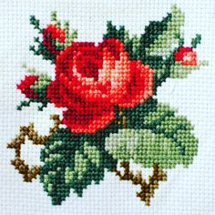 Hand Sewing Leather Patches On Jeans Cross Stitch Rose, Beaded Cross Stitch, Cross Stitch Flowers, Cross Stitch Charts, Cross Stitch Designs, Cross Stitch Patterns, Blackwork Embroidery, Hand Embroidery Patterns, Embroidery Thread