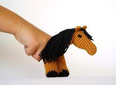 Crochet Horse Finger Puppet | Craftsy
