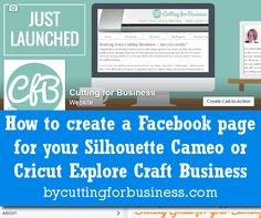 How to create a Facebook page for your Silhouette Cameo or Cricut Explore Business - by cuttingforbusiness.com