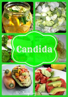 Candida Recipes that you can eat while removing your yeast overgrowth. #Candida