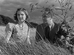 """Alison and Mr. Colpeper share a moment atop a hill overlooking Canterbury in Powell & Pressburger's """"A Canterbury Tale"""", a wartime homage to English tradition, 1944"""