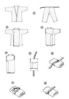 Handy guide - how to fold a kimono
