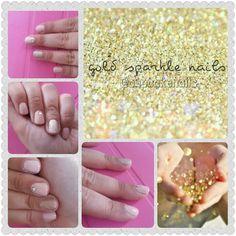 Gold sparkle nails