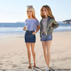 """From the @TommyHilfiger catwalk to our Malibu beach walk, I've had the best time this week with @gigihadid! "" Gigi Hadid doll most likely a One of  Kind (OOAK) doll. From Barbie Style on Instagram 02/09/2017"