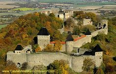 Helfstyn Castle, Lipník nad Becvou, Prerov, Olomouc, Czech Republic....     http://www.castlesandmanorhouses.com/photos.htm    ....    The ruins of the castle are perched on a knoll above the narrowest part of the Moravian Gate and above the left bank of the river Becva. The complex is 187 meters long and up to 152 meters wide. It is one of the largest castles in terms of area in the Czech Republic.