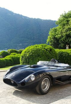 A shape and design like no other, the 1956 Maserati 450 S Roadster.
