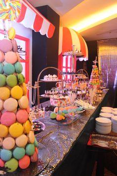 Traditional wedding decoration deso decoration wedding dessert table from karissa birthday event full of sweets sweet macaroon junglespirit Gallery
