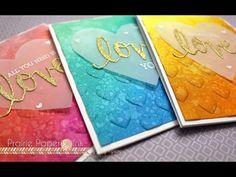 HA Stamp & Cuts: LOVE, WeR Memory Keepers next level embossing folders, Prairie Paper & ink video,