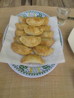 Home made Empanadas that my Argentine mother-in-law made for us. Filled with beef, scallions, onions and cooked eggs. Unbelievable!!!!