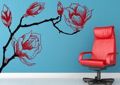 Las flores tienen muchisimos detalles, cada linea hace que parezca con textura y la silueta de la rama es muy real. - Calcarte Dale vida a t...