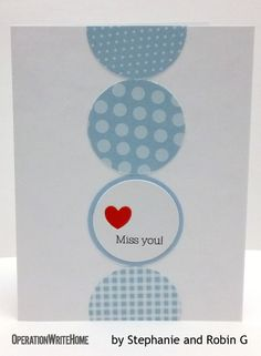Circles of love and missing you on a card... cute!