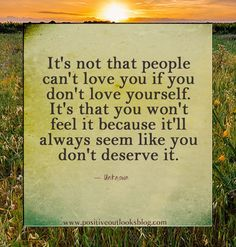 Wish I could get this thru to some people who resist being loved