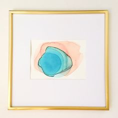 Puddle Abstract original watercolor by KristineBrookshire on Etsy
