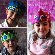 NYE no sew felt crowns Felt Crown, Diy Crown, Sister Wedding, Diy Tutorial, Crafts For Kids, Beads, Sewing, Crowns, Cord