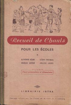 Recueil de chants pour les écoles, Cours préparatoire et Cours Élémentaire (1954)