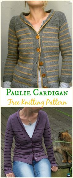Women's Paulie Cardigan Sweater Free Knitting Pattern - Knit Women Cardigan Sweater Coat Free Patterns