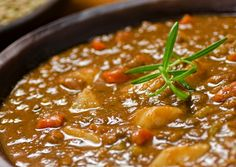 lentil soup- get a good piece of nonstick cookware like Pampered Chef so you csn omit the oil (ie- condensed fat) to make this truly healthy. No need for the oil if your pan doesn't stick.