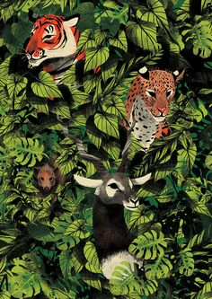 Self initiated elaborate pattern which took inspiration from some of Indias most endangered animals. Featured are the Pygmy Hog, the Bengal Tiger, the Indian Leopard and the Indian Blackbuck.