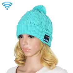 [$10.56] My-Call Bluetooth Headset Beanie Knitted Warm Winter Hat for iPhone 6 & 6s / iPhone 5 & 5S / iPhone 4 & 4S and Other Bluetooth Devices(Blue)
