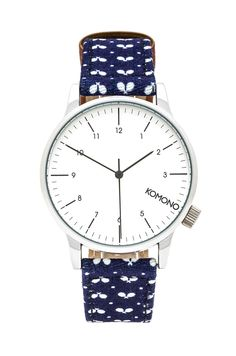 Komono Winston Print Watch | Ping Pong Polkadot. The Komono Winston Print Watch plays on fun patterns and textures that make for a classic yet playful watch design. Inspired by the world around us, the easy-easy-on-the-eye prints are a great wristwear match to your mood and your latest fancy.  Available at Sportiquesf.com. #watches #komono #style #cool