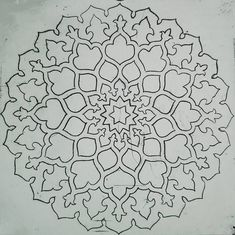 dry point Islamic pattern.