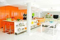 #diseño de #cocina Cocinas en color naranja #madrid
