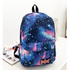 Galaxy impressão Mochila de lona Mochila Feminina para meninas adolescentes sacos de escola para meninas juventude espaço Mochila O1099