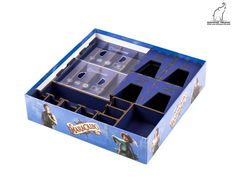 Caribbean Organizer for Maracaibo, Maracaibo insert, Board Game Organizer, Board Game Insert, Wooden organizer All Card Games, Board Game Organization, Wooden Organizer, Wood Glue, Party Accessories, Blue Bags, Card Holders, The Expanse, Board Games