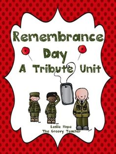 Help your kids learn more about this important day. This Remembrance Day Unit includes:a read aloudremembering the minute of silencebrave war a. Remembrance Day Activities, Plan Canada, Remembrance Day Poppy, Teacher Lesson Plans, Anzac Day, Math Art, November, Language Activities, School Holidays