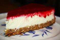 fressraupe: NY Cheesecake mit Himbeerspiegel