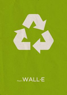 Affiche minimaliste de Wall E