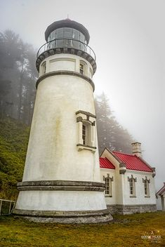 Heceta Head Lighthouse | Gray foggy August day of low visibi… | Flickr