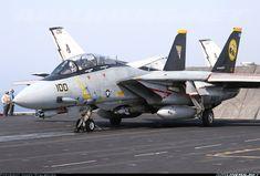 Navy F-14 Tomcat On Cat