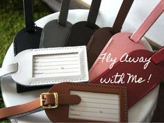 Wedding Favors - Fly Away with Me Luggage Tags | Favors, Weddings ...