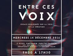 """Check out new work on my @Behance portfolio: """"Entre ces voix poster and brochure event"""" http://be.net/gallery/48942849/Entre-ces-voix-poster-and-brochure-event"""