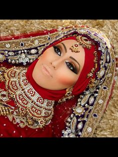 Asian bride in hijab