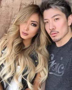 """Sexy youtuber @arikasato got my signature high contrast blonde today. She just sent me this selfie and it's so beautiful I had to post it #guytang…"""