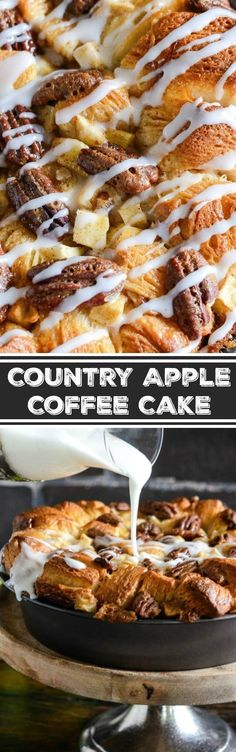 This Country Apple Coffee Cake is an award winning recipe that is loaded with apples, cinnamon, pecans, brown sugar, flaky biscuits and an optional splash of whiskey!