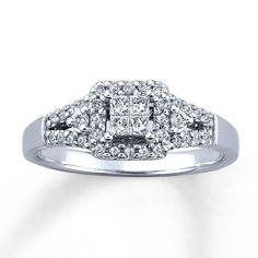 Crushed Diamond Wedding Rings