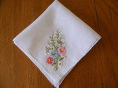 Gorgeous hanky...perfect for a Spring bride!  http://www.etsy.com/listing/96752740/vintage-handkerchief-embroidered-with