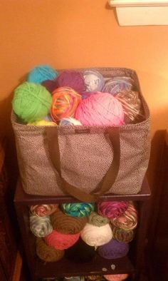 Square Utility Tote for holding your yarn-