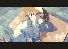 笑猫(@YumYumYumYumY)さん   Twitter Anime Boys, Sad Anime, Hot Anime Boy, Pretty Art, Cute Art, Manga Art, Anime Art, Sakuma Rei, Comic Book Layout