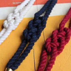 Sailor Knot Bracelets! #ropebracelet #sailorknot #carrickbend #sailorbracelet…