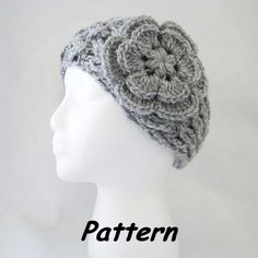 Free+Crochet+Headband+Ear+Warmer   PDF CROCHET Pattern: NEW Lattice Headband/Ear Warmer w Puff Center ...